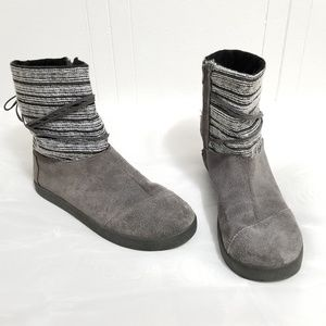 Toms| Gray Suede Side Zip Winter Boots